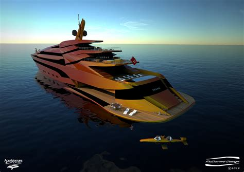 Super yacht Iwana with bathing platform and AQVWC SeaBird ...