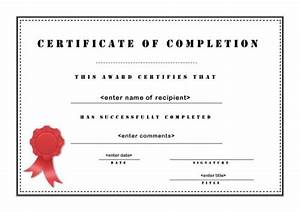 certificate of completion 003 With class completion certificate template