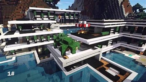top  des  belle maison moderne minecraft youtube