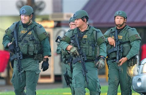 Louisiana State Police Officers Leave The Location Where