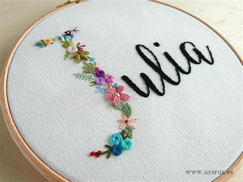 bastidor nombre arco iris hilo y aguja bordado ideas de bordado y cuadros bordados a mano
