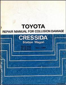 1986 Toyota Cressida Repair Shop Manual Original