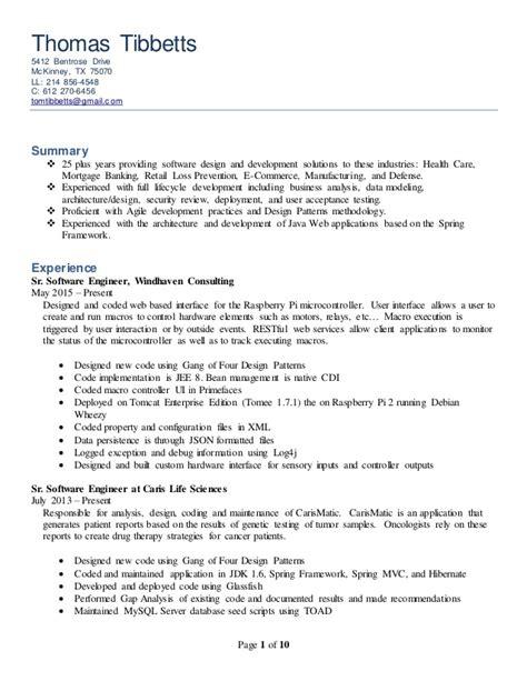 Java Resume Mvc by Developer Resume 3 4 20150713
