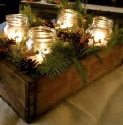 mason jar holiday centerpiece holidays pinterest