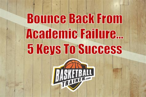 Basketball Academics  5 Keys To Overcoming Academic Failure