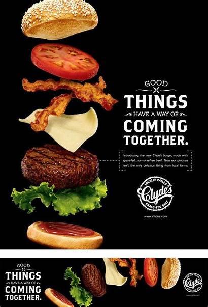 Advertising Creative Restaurant Seen Never Promise Poster