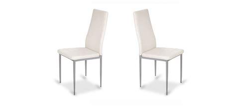 chaise blanche salle a manger chaise de salle à manger blanche design et contemporaine