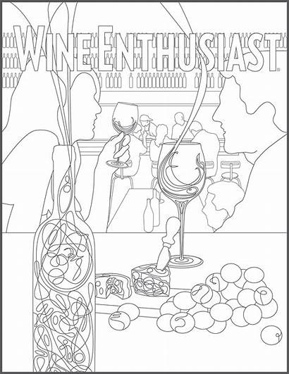 Coloring Wine Adult Pages Pdf Magazine Enthusiast