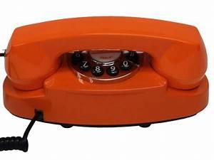 Telephone Filaire Retro : osez la couleur orange dans la d co ~ Teatrodelosmanantiales.com Idées de Décoration