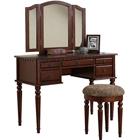 Womens Makeup Vanity - vanity set with mirror and stool vintage antique makeup