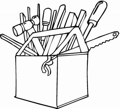 Tools Coloring Tool Pages Construction Clipart Colouring