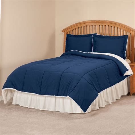 Sherpa Lined Comforter - sherpa lined alternative comforter with shams easy