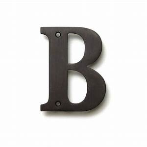 deltana 4 inch solid brass residential letter b With 4 inch brass letters