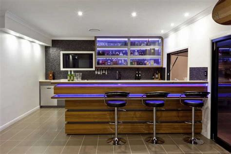 Home Bars Design Ideas by Modern Home Bar Decorating Ideas