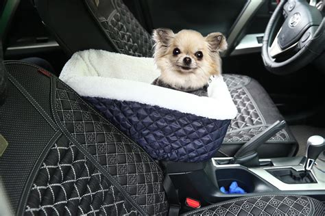 Kobwa(tm) Console Dog Car Seat For Small Pets With Safety Belt