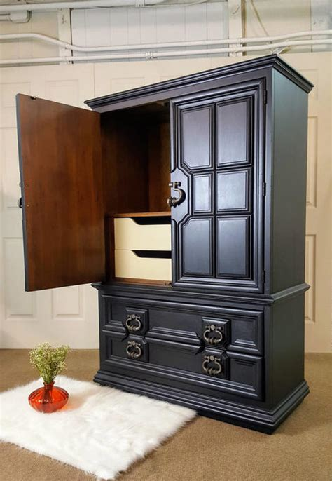 Black Wardrobe Dresser by Black Armoire Thomasville Dresser Chest Wardrobe By