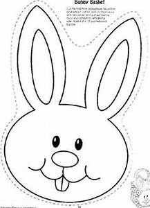 Easter Bunny face pattern. Use the printable outline for ...