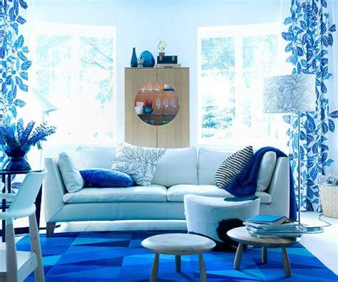salle de dans chambre tapis bleu ikea photo 1 10 une ambiance polaire dans