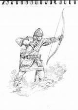 Archer Medieval Pose Coloring Deviantart Sketch Template sketch template
