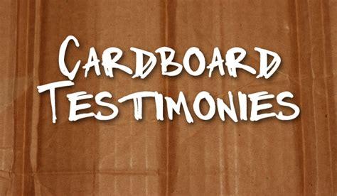 cardboard testimonies bethel church fargo