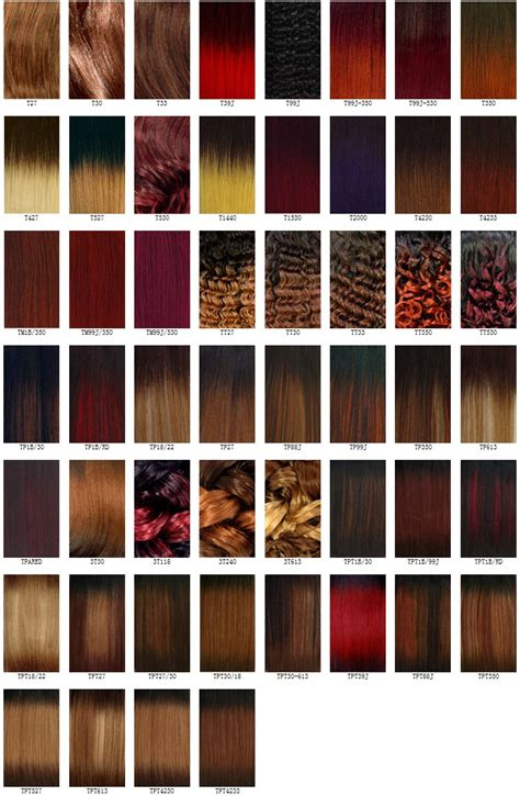 Hair Color Shades Of Chart by Best Hair Color Charts Hairstyles Weekly