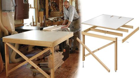 build  basic tablesaw outfeed table finewoodworking