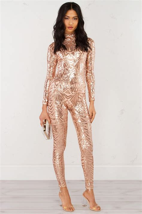 Best 25+ Rose gold jumpsuit ideas on Pinterest | Rose gold wedding dress Casual jumpsuit and ...