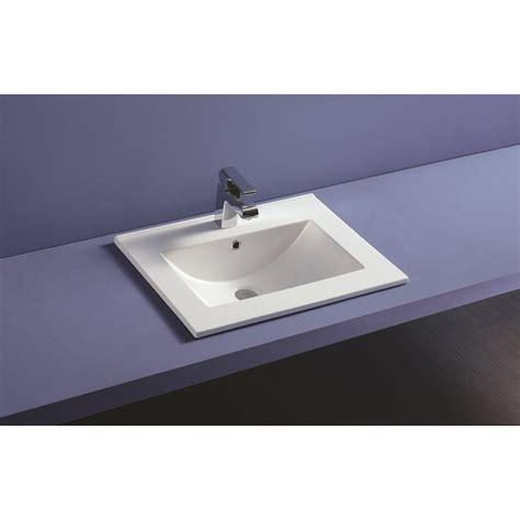 vasque a encastrer plan vasque c 233 ramique 224 encastrer thin profondeur 46 cm robinet co