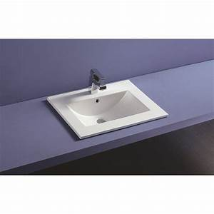 Vasque à Encastrer : plan vasque c ramique encastrer thin profondeur 46 cm ~ Edinachiropracticcenter.com Idées de Décoration