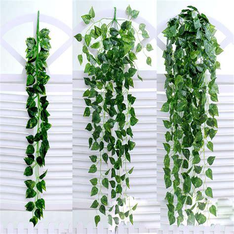 hanging vine plants 90 20cm silk fabric artificial ivy vine hanging green leaf vine high quality fake plant leaves