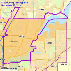 Indianapolis Zip Code Map