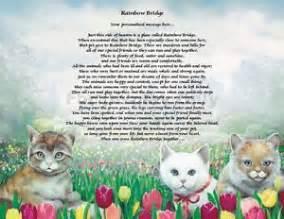 rainbow bridge for cats personalized cat memorial rainbow bridge poem loss of pet