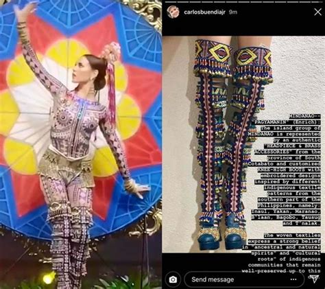 catriona gray  universe  national costume details