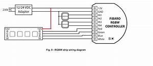 fibaro rgbw controller with led light strip not turning on With led strip wiring