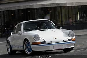 Blanc Bleu Automobiles : porsche 911 carrera 2 7 rs blanc bleu 3 4 avant droit pench rallye de paris classic 2011 ~ Gottalentnigeria.com Avis de Voitures