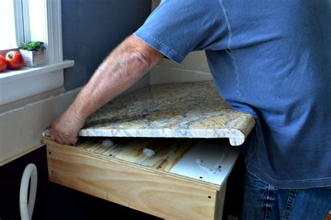 how to install countertops diy granite kitchen countertop install chatfield court