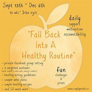 Fall Back Into A Healthy Routine