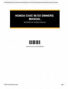 Honda Civic 98 Ex Manual