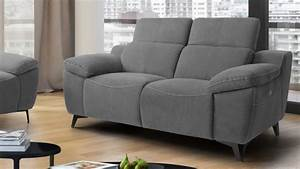 Canape relax electrique inclinable 2 places design faro for Tapis de couloir avec canapé 2 places relax électrique tissu