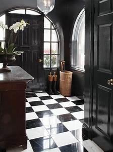 Damier Noir Et Blanc : vous cherchez des id es pour un carrelage noir et blanc ~ Dallasstarsshop.com Idées de Décoration