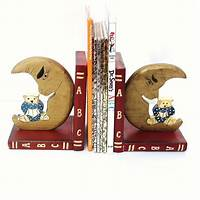 bookends for kids Kids Bookends Wooden Book Ends ABC Nursery Decor by ...