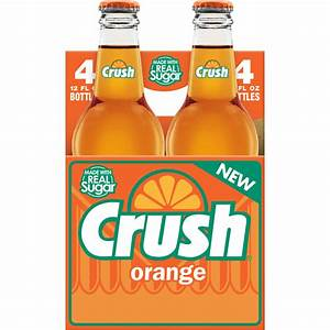 Crush Caffeine-free Orange Soda  12 Fl  Oz   4 Count