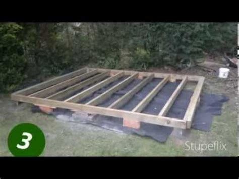 How To Lay Base For Shed by How To Lay A Shed Base Foundation