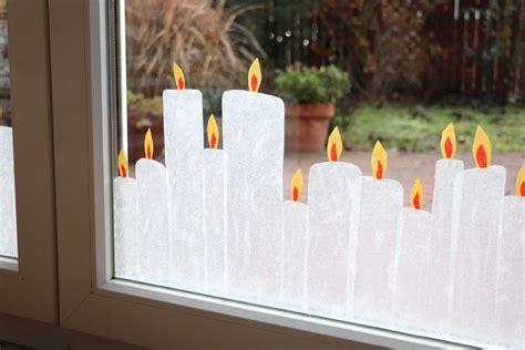 Fenster Dekorieren Mit Kindern Weihnachten by Weihnachtliche Fensterdeko Transparentpapier Kerzen