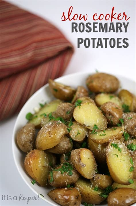 best easy crock pot recipes best crock pot recipes rosemary potatoes it is a keeper