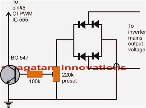Modified Sine Wave Inverter Circuit With Waveform Images