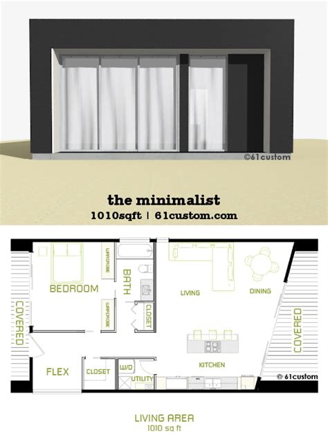 An Open Floorplan Highlights A Minimalist Design by The Minimalist Is A Small Modern House Plan With One