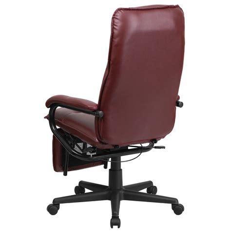 flash furniture high back burgundy leather executive