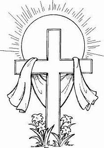 Easter Cross Clipart Black And White   Easter Day ...