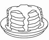 Pancakes Pancake Coloring Colouring Pages Stack Template Sausage Cookie Cakes Cake Drawing Coloringkidz Super Sketch Charlotte Searches Recent sketch template